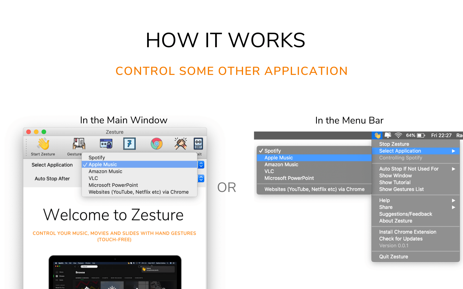 Control some other application